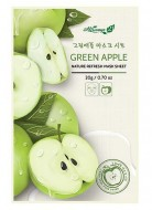 Освежающаяя маска для лица с экстрактом яблока ALWAYS21 Nature refresh mask sheet Green apple 20г: фото