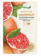 Освежающаяя маска для лица с грейпфрутом ALWAYS21 Nature refresh mask sheet Grapefruit 20г: фото