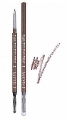 Карандаш для бровей LIMONI Super Slim Brow Pencil 02