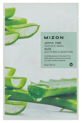 Тканевая маска с алое MIZON Joyful time essence mask aloe 23г: фото