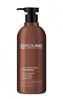 Маска-бальзам восстанавливающая с кератином FLOLAND Premium Silk Keratin Treatment 530мл: фото