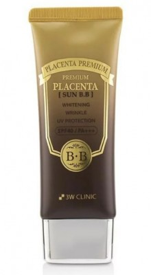 ВВ-крем с плацентой 3W CLINIC Premium Placenta Sun BB Cream SPF40 50мл