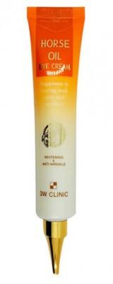 Крем для кожи вокруг глаз c лошадиным маслом 3W CLINIC Horse oil eye cream whitening & anti-wrinkle 40мл: фото