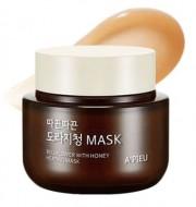 Согревающая маска для лица с медом A'PIEU Bellflower with honey Heating Mask 110мл: фото