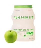 Тканевая йогуртовая маска A'PIEU Яблоко Real Big Yogurt One-Bottle Apple 21г: фото