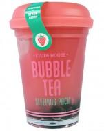 Ночная маска с экстрактом клубники ETUDE HOUSE Bubble Tea Sleeping Pack Strawberry: фото