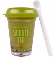 Ночная маска с экстрактом зеленого чая ETUDE HOUSE Bubble Tea Sleeping Pack Green Tea: фото