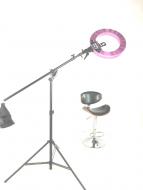 Кольцевая лампа Stellar LED Diva Ring light + Boom Stand Hot pink: фото