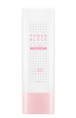 Солнцезащитная осветляющая база под макияж A'PIEU Power Block Tone Up Sun Base Pink SPF50: фото