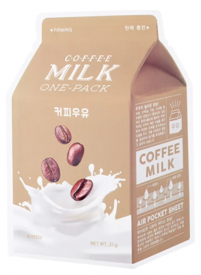Тканевая маска молочная с кофе и коллагеном A'PIEU Coffee Milk One-Pack 21г