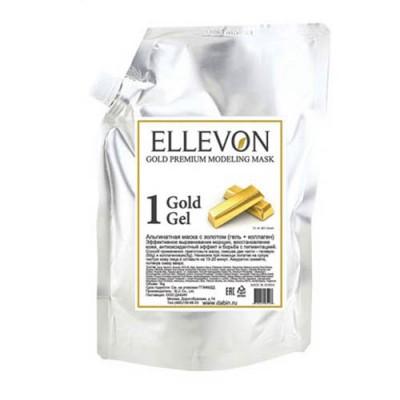 Альгинатная маска ELLEVON с золотом гель + коллаген 1000г: фото