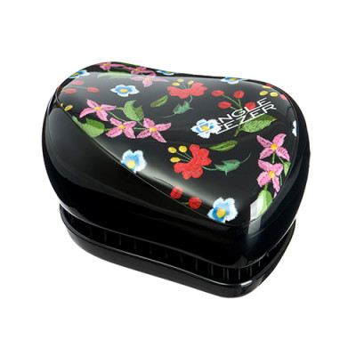 Расческа TANGLE TEEZER Compact Styler Embroidered Floral черный: фото