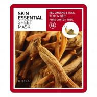 Маска для лица MISSHA Skin Essential Sheet Mask (Ginseng & Snail): фото