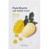 Увлажняющая маска для лица MISSHA Pure Source Cell Sheet Mask (Mango): фото