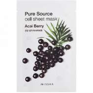 Увлажняющая маска для лица MISSHA Pure Source Cell Sheet Mask (Acai Berry): фото