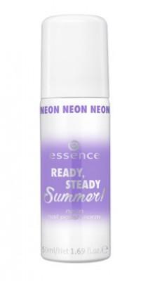 Неоновый спрей для ногтей ЕSSENCE Ready, Steady, Summer! Neon Nail Polish Spray 03 train hard, play harder Essence