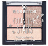 Палетка теней Essence Counting Stars Highlighter&Eyeshadow Trio 01 Make Your Own Magic: фото