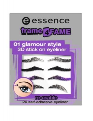 Наклейка-подводка для глаз frame for fame stick on eyeliner 75820 3D Essence