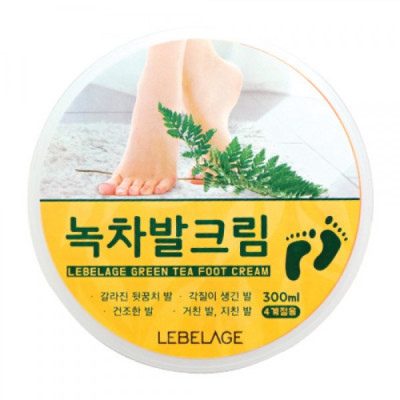 Крем для ног с экстрактом зеленого чая LEBELAGE, 300мл: фото