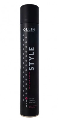 Лак для волос ультрасильной фиксации OLLIN STYLE 500мл: фото