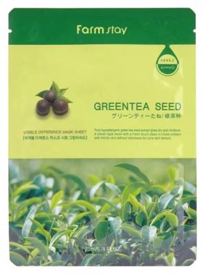 Маска с экстрактом семян зеленого чая FarmStay Green Tea Seed Visible Difference Mask Sheet 23мл: фото