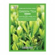 Маска тканевая с экстрактом зеленого чая LEBELAGE, 23г: фото
