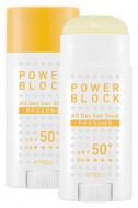 Стик для лица солнцезащитный A'PIEU Power Block All Day Sun Stick (Pposong) SPF50+/PA++++ 15гр: фото