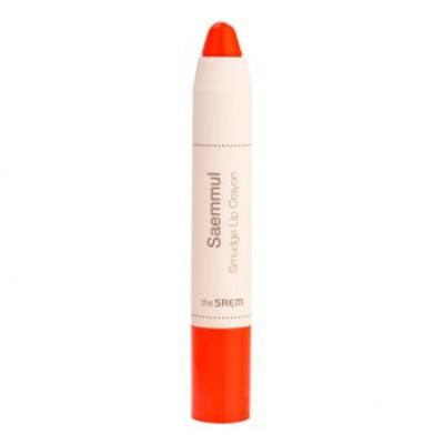 Карандаш-помада для губ THE SAEM Saemmul Smudge Lip Crayon OR01 3,5гр