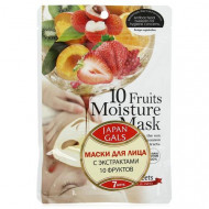 Маска с экстрактами 10 фруктов Japan Gals Pure5 Essential 30 шт: фото