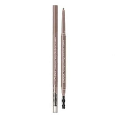 Карандаш для бровей THE SAEM Eco Soul Powerproof Mega Slim Brow 02 Dusty Ash 0,07гр