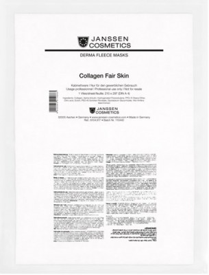 Коллаген осветляющий Janssen Cosmetics Collagen Fair Skin 1лист: фото