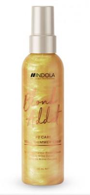 Спрей для придания золотого блеска Indola Blond Addict Gold Shimmer Spray 150мл: фото