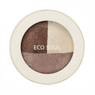 Тени для век тройные THE SAEM Eco Soul Triple Dome Shadow BR01Accomplished Brown 6,5гр: фото