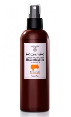 Кондиционер-спрей для облегчения расчесывания и защиты цвета с маслом макадамии Egomania RicHair Color Protection 250мл: фото