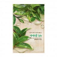 Маска для лица листовая NATURE REPUBLIC REAL NATURE GREEN TEA MASK SHEET 20мл: фото