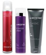Набор в тубе La Biosthetique Beauty Box Вторник: Formule Laque ultra Strong (75 мл), Powder Spray (75 мл), Classic Gel (75 мл): фото