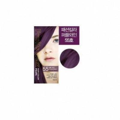 Краска для волос на фруктовой основе Welcos Fruits Wax Pearl Hair Color #55 60мл*60гр: фото