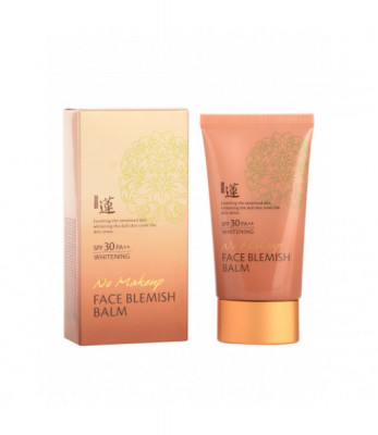 ББ крем Welcos Lotus No Make-Up Blemish Balm 50мл