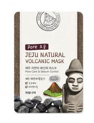 Маска для лица очищающая поры Welcos Jeju Natural Volcanic Mask Pore Care & Sebum Control 20мл: фото