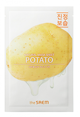 Маска тканевая с экстрактом картофеля THE SAEM Natural Potato Mask Sheet 21мл: фото