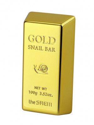 Мыло для умывания с экстрактом золота, муцина улитки, оливы THE SAEM Gold Snail Bar 100г: фото