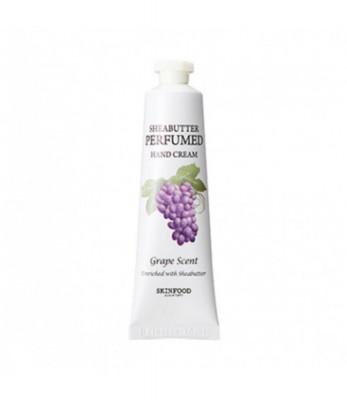 Крем для рук парфюмированный SKINFOOD Shea Butter Perfumed Hand Cream Grape scent 30мл: фото