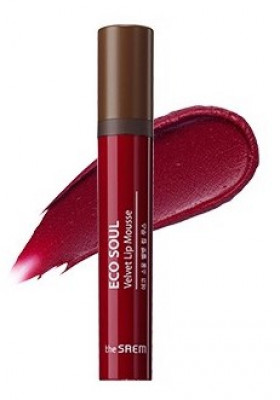 Мусс для губ THE SAEM Eco Soul Velvet Lip Mousse RD01 Red Motion 5,5гр