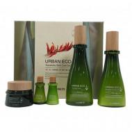Набор уходовый с экстрактом новозеландского льна THE SAEM Urban Eco Harakeke Skin Care 3 Set (Toner, Emulsion, Cream) 180мл/140мл/20мл/20мл/60мл: фото