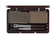Пудра для бровей THE SAEM Eco Soul Eyebrow Kit 02 Gray Brown 2*2.5г: фото