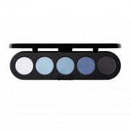 Палитра теней Make-Up Atelier Paris T27 5 цветов голубые джинсовые тона: фото