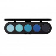 Палитра теней Make-Up Atelier Paris T25 5 цветов голубые оттенки: фото