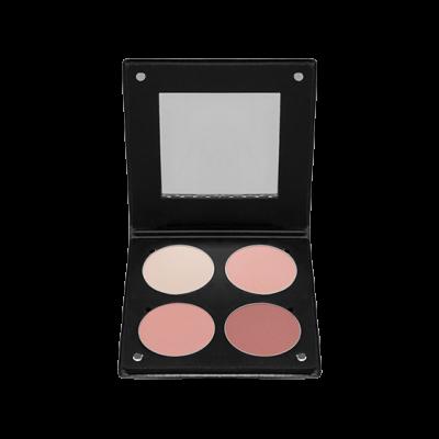 Палитра румян с зеркалом Make-Up Atelier Paris BL3DBR 4 оттенка розовый беж 96 гр