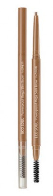 Карандаш для бровей THE SAEM Eco Soul Powerproof Mega Slim Brow 01 Light Brown 0,07г