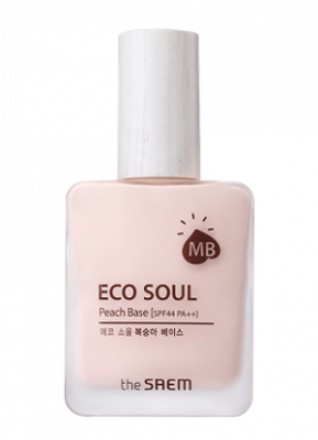 База под макияж THE SAEM Eco Soul Peach Base 30мл
